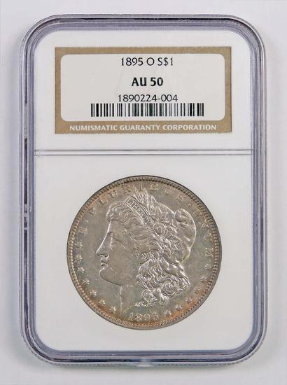 1895 O Morgan Silver Dollar (NGC) AU50.