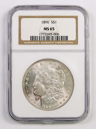 1896 P Morgan Silver Dollar (NGC) MS65.