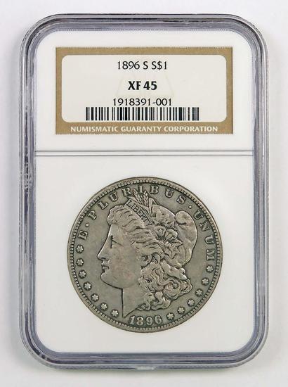 1896 S Morgan Silver Dollar (NGC) XF45.