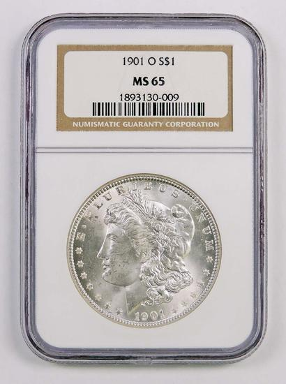 1901 O Morgan Silver Dollar (NGC) MS65.