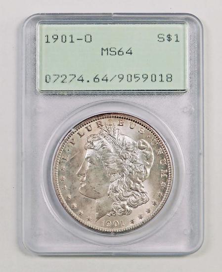 1901 O Morgan Silver Dollar (PCGS) MS64 Rattler.