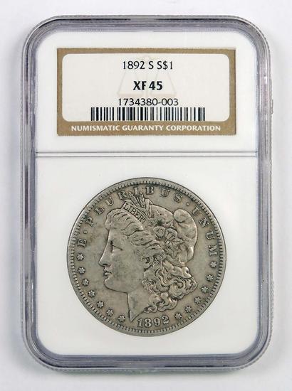 1892 S Morgan Silver Dollar (NGC) XF45.