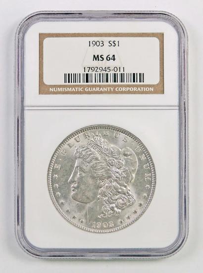 1903 P Morgan Silver Dollar (NGC) MS64.