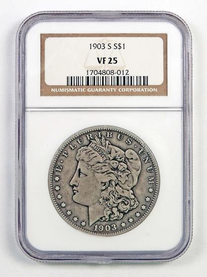 1903 S Morgan Silver Dollar (NGC) VF25.