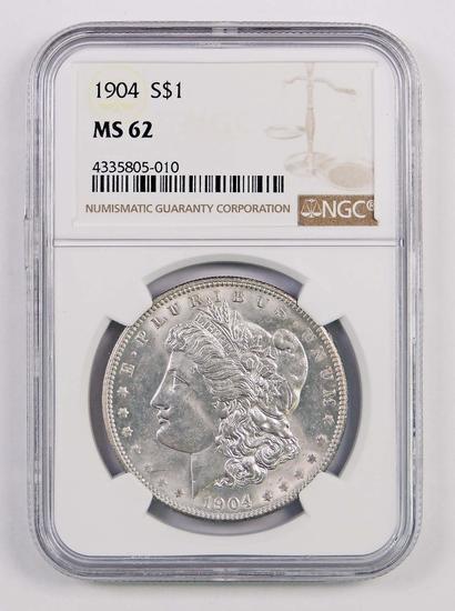 1904 P Morgan Silver Dollar (NGC) MS62.