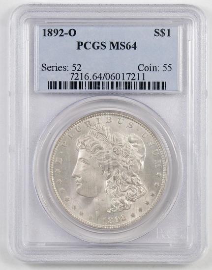 1892 O Morgan Silver Dollar (PCGS) MS64.