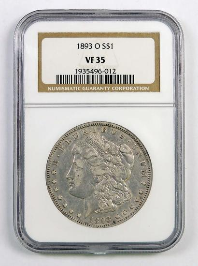 1893 O Morgan Silver Dollar (NGC) VF35.