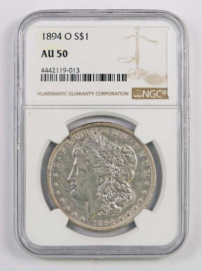 1894 O Morgan Silver Dollar (NGC) AU50.