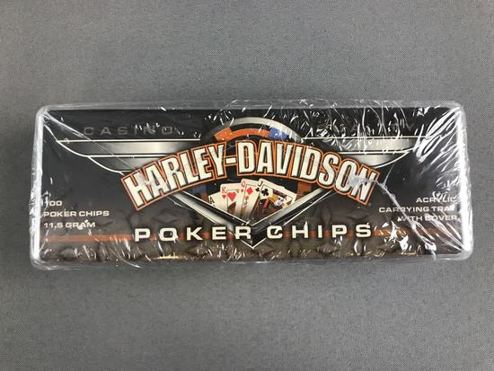 Harley Davidson Poker Chips New in Package