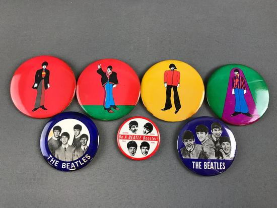 Group of Beatles Pins