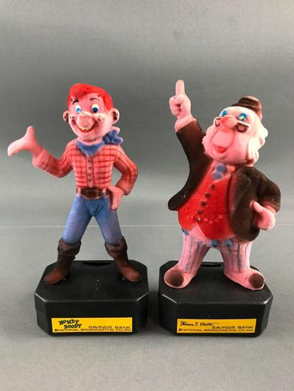 Howdy Doody and Phineas T Buster Banks