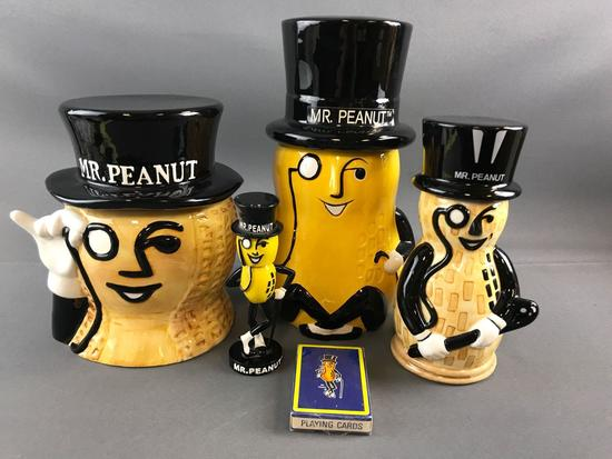 Group of Mr Peanut Items
