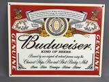 Budweiser Metal Advertising Sign