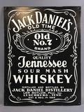 Jack Daniels Whiskey Metal Advertising Sign