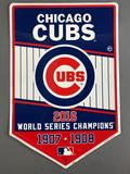 Chicago Cubs 2016 Championship Metal Sign