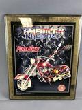 American Chopper Fire Bike Clock
