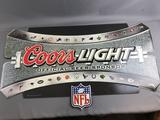 Coors Light NFL Advertising Sign