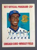 1977 Chicago Cubs Official Program