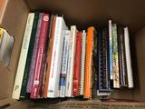 Large group of cookbooks