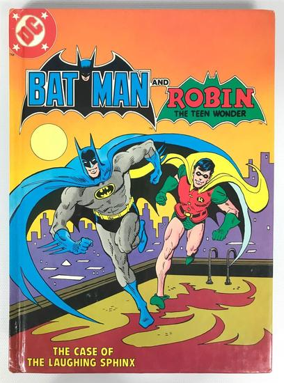 """Vintage Batman and Robin """"The Case of the Laughing Sphinx Fisher-Price Cassette Tape and Book"""