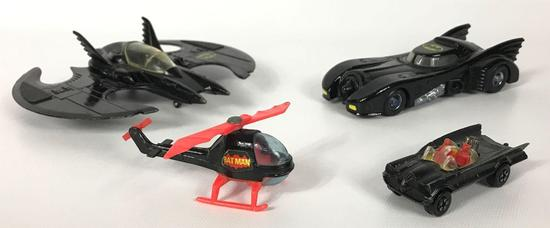 Group of 4 Die-Cast Batmobiles