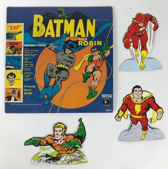 Vintage 1966 Batman and Robin Album and 1977 DC Super Heroes Die-Cuts