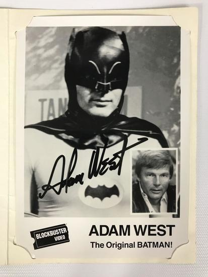 Signed Adam West Blockbuster Video 1989 Promo Photograph