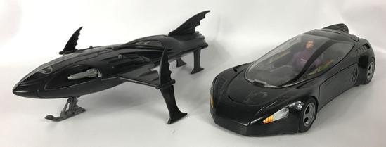1993 Kenner Batman Bruce Wayne Street Jet and 1992 BatSkiBoat with Action Figures
