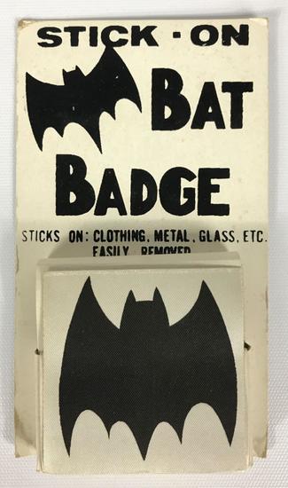 """Vintage Full Package of 1966 Batman """"Bat Badges"""" in Original Packaging"""
