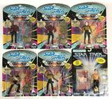 Group of 6 1992 Playmates Star Trek the Next Generation Action Figures in Original Packaging