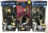 Group of 3 Star Trek The Next Generation Collector Series and First Contact Action Figures