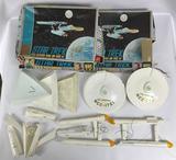 Group of Vintage Star Trek The Original Series AMT Enterprise Model Kits