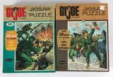 Group of 2 Vintage 1965 Hasbro G.I. Joe Whitman Jigsaw Puzzles
