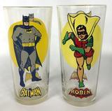 Vintage 1976 Batman and Robin Pepsi Super Series Glasses
