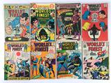 Group of 8 DC Comics Silver Age World's Finest Comic Books Featuring Batman and Superman