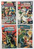 Group of 4 DC Comics Bronze Age All-Star Squadron Comic Books with Signed #1