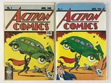 Group of 2 Reprint Action Comics #1 Comic Books