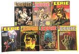 Group of 7 Vintage 1970's Eerie Horror Magazines