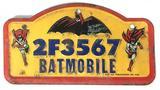 Vintage 1966 Batman and Robin Batmobile License Plate
