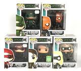 Group of 5 CW's Arrow TV Series Funko Pop Vinyl Figures
