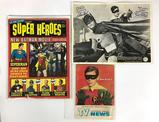 Group of Vintage 1966 Batman Magazine, Photo, and Chicago Daily TV News