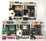 Group of 5 DC Comics Super Heroes Funko Pop Vinyl Figures