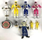 Group of Mighty Morphin Power Rangers Action Figures