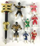 Group of Mighty Morphin Zeo Rangers and Space Power Ranger Action Figures