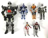 Group of 1990's Beetle Burg and VR Trooper Action Figures