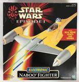 1998 Hasbro Star Wars Episode 1 Electronic Naboo Fighter in Original Box