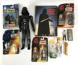 Group of Vintage and Modern Star Wars Action Figures and More