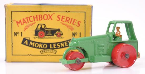 Matchbox No. 1 Road Roller Die-Cast Vehicle with Original Box
