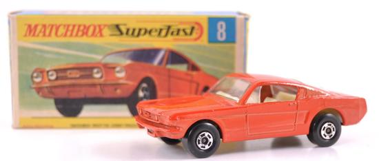 Matchbox Superfast No. 8 Ford Mustang Die-Cast Car with Original Box