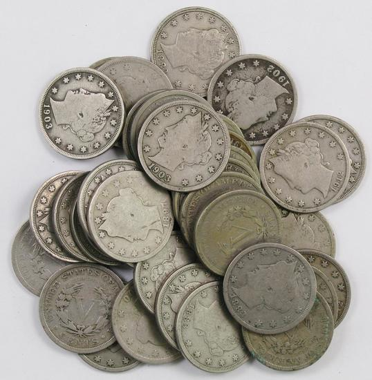 Lot of (36) Liberty Head Nickels.